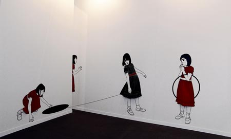 Una de las obras expuesta por Rebeca Meléndez.