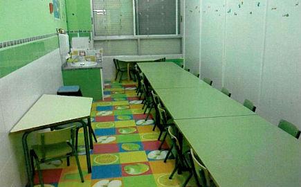 Comedor de Colegio Monte de A Guía: 14,8 m2 para 24 niños
