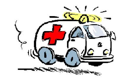 Saltan de una ambulancia en marcha al incendiarse y quedarse sin frenos