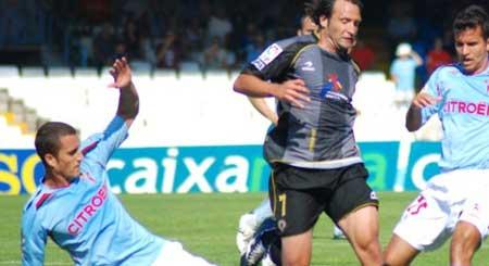 Un momento del partido frente al Hércules