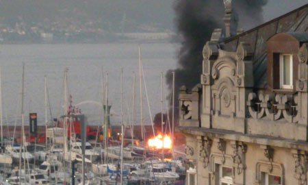 Imagen de la explosión