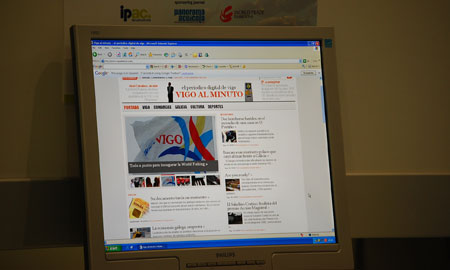 Un ordenador en la World Fishing Exhibition