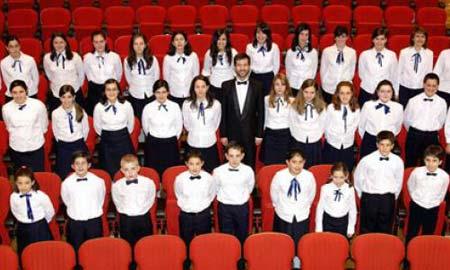 Algunos de los niños de la Sinfónica de Galicia.