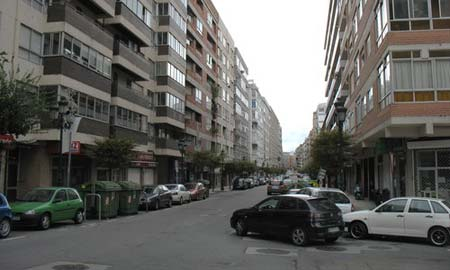 La calle Conde de Torrecedeira.