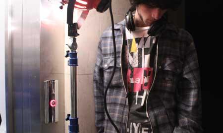 Momento de la grabación de un corto
