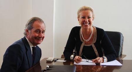 Corina Porro y De la Peña, durante la reunión