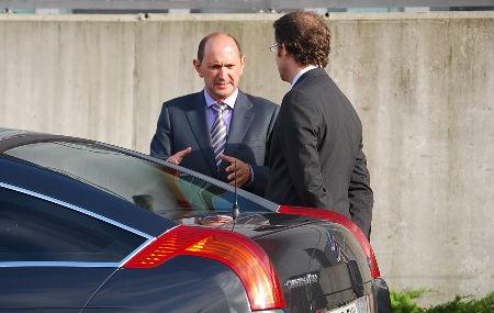 Louzán y el presidente Feijóo, hace unos días, en Vigo