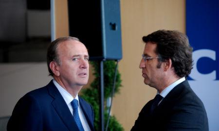 El presidente de Pescanova con el de la Xunta, durante la clausura de Conxemar