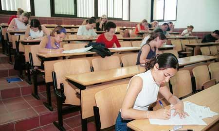 Los exámenes finalizan el día 15
