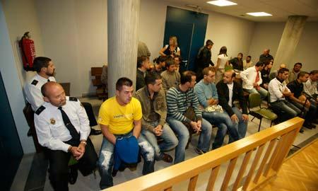 Última sesión del juicio contra 13 manifestantes del metal por los disturbios de 2006.