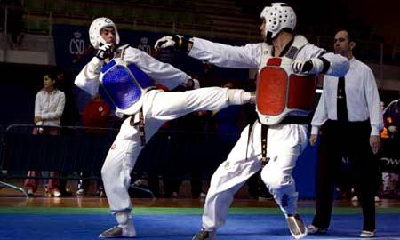 Combate del Campeonato de España Universitario celebrado en Vigo.