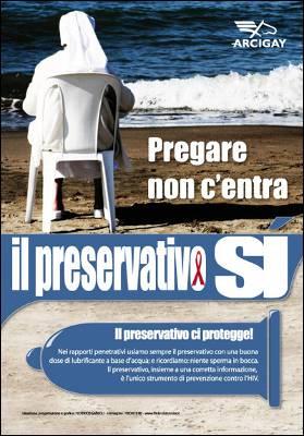 Cartel de la campaña iniciada en Italia contra el SIDA