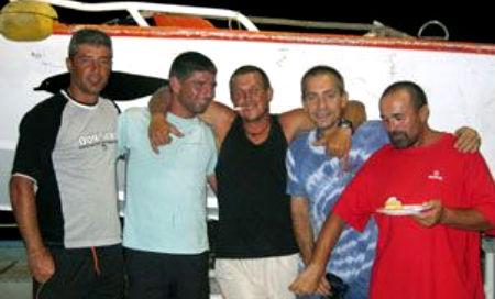 Varios de los tripulantes del 'Alakrana'
