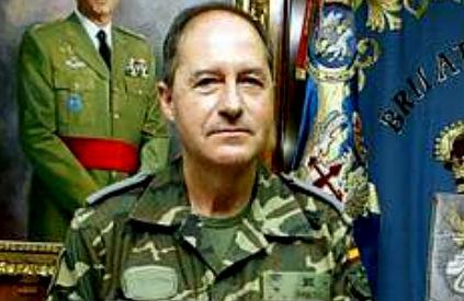 El general de brigada, José María Prieto, jefe de la Brilat