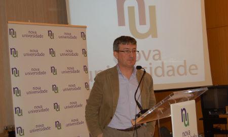 Jaime Cabeza na presentación da súa candidatura