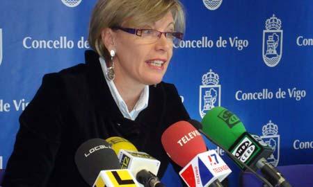 A concelleira de Benestar Social, María Méndez.