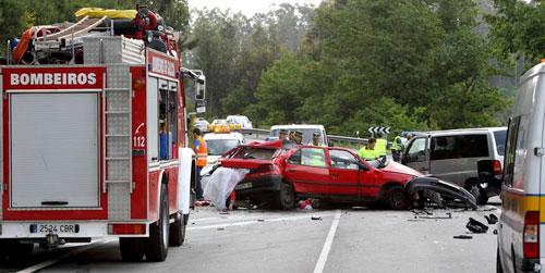 Sigue muy grave una de las jóvenes heridas en el accidente de Caldas