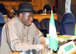 El presidente de Nigeria, Goodluck Jonathan.