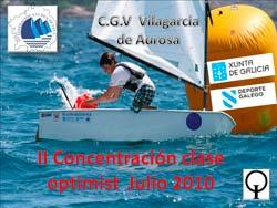 Segunda concentración de Optimist en el Centro Galego de Vela