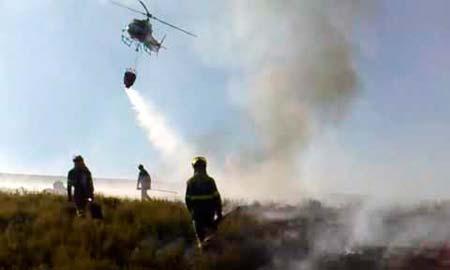 Deteñen a un home de Mourente por un incendio que queimou 0,4 hectáreas