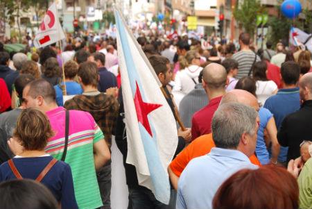 Caballero reconoce el éxito de la huelga general en Vigo