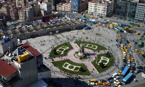 La céntrica plaza de Taksim en Estambul.