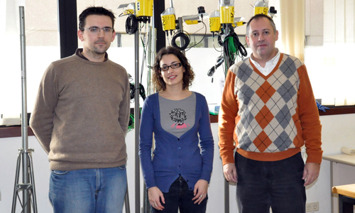 Os investigadores José Antonio Gay, Isabel Expósito e Íñigo Cuíñas.