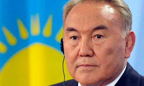 El primer ministro de Kazajistán, Nursultan Nazarbayev.