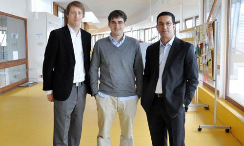 Os tres investigadores que levarán a cabo o proxecto.
