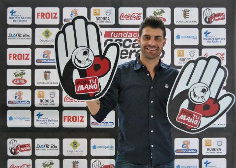 """Un solidario Óscar Pereiro presenta """"Pon tu mano"""" a favor del deporte base"""