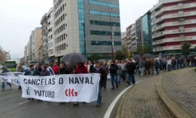 Trabajadores del naval asaltan el Concello de Ferrol