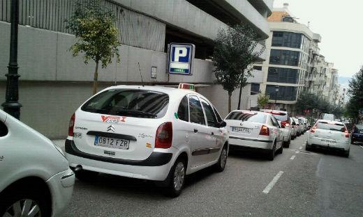 Retenciones en Vigo por una protesta de taxistas