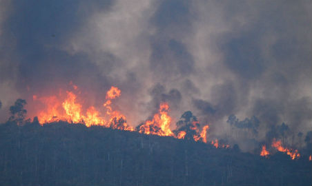 El incendio de Mondariz tenía hasta 17 focos distintos distantes apenas 500 metros