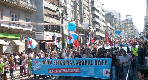 Más de 200.000 'cabreados' protestan este 29M en Vigo