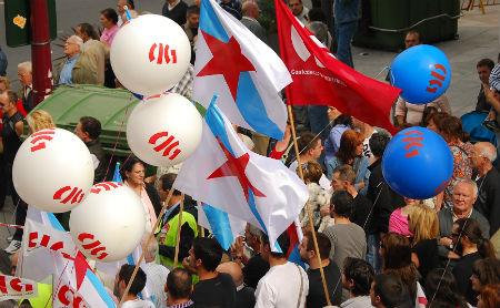 CCOO y UGT, por un lado,y CIG, por otro, convocan manifestaciones para este 1º de Mayo