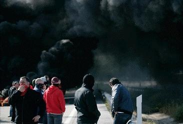 Batalla campal contra los mineros en Madrid
