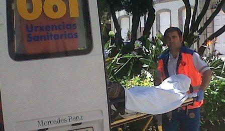 Herida en un choque entre 3 vehículos en A Madroa