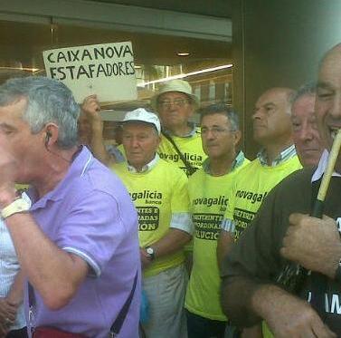 Los afectados por las preferentes siguen su lucha en Vigo