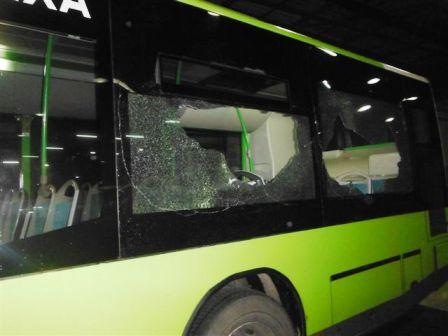 Un autobús de Vitrasa, apedreado en esta tercera jornada de huelga