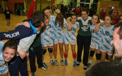 A Selección Galega Feminina, prata, e a masculina, bronce, no 'Torneo Cadete Galicia' de balonmán