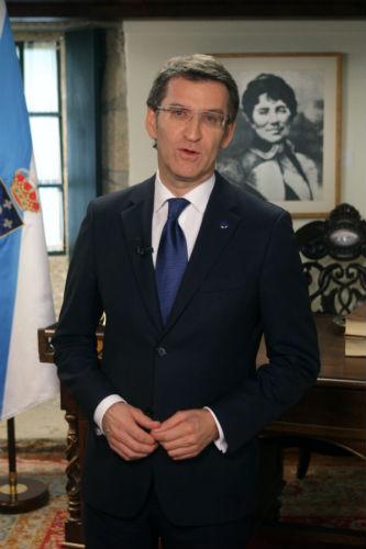 """Feijóo asegura na mensaxe de Fin de Ano que @s parad@s """"están presentes en cada decisión do Goberno galego"""""""