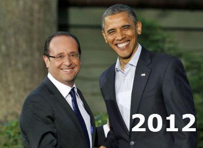 2012: Hollande se muda al Eliseo y Obama se queda en la Casa Blanca