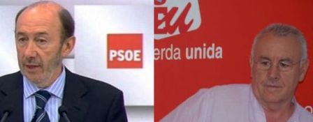 Rubalcaba pide a Rajoy que dé la cara, Cayo Lara que dimita