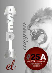 """#25A, llaman a """"asediar"""" el Congreso y no abandonar hasta que dimita el Gobierno"""