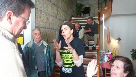 Xavier Vence visita a los Afectados por las Preferentes encerrados en Gondomar