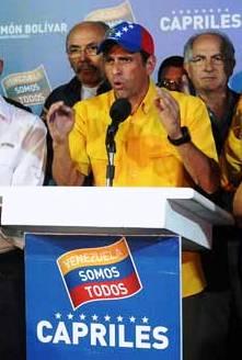 """Capriles: """"Maduro es un presidente ilegítimo"""""""