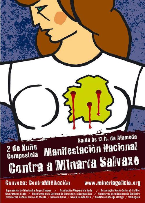 """#ContraMINAcción convoca aos galegos á manifestación do 2 de xuño para """"defender o noso país da minaría salvaxe"""""""