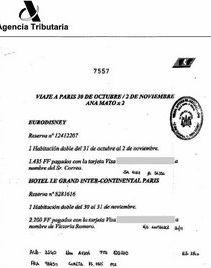 Correa, presunto cabecilla de Gürtel, pagó parte de un viaje de Ana Mato a Euro Disney