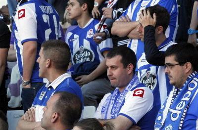 La Liga de Fútbol Profesional adelanta que el Depor podría bajar a Segunda B