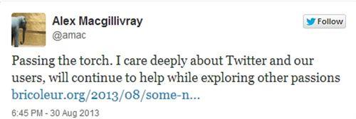 Dimite por sorpresa el abogado de Twitter…y, por supuesto, lo anuncia en un tweet